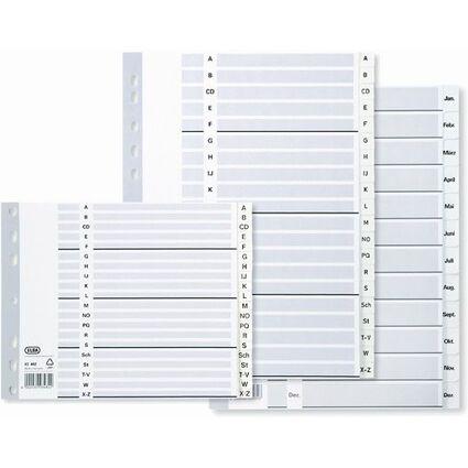 ELBA Kunststoff-Register, A-Z, DIN A4, weiß, 20-teilig, voll