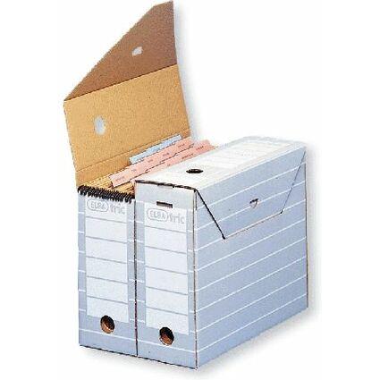 ELBA tric Archiv-Schachtel, Breite 110 mm, für A4, grau/weiß