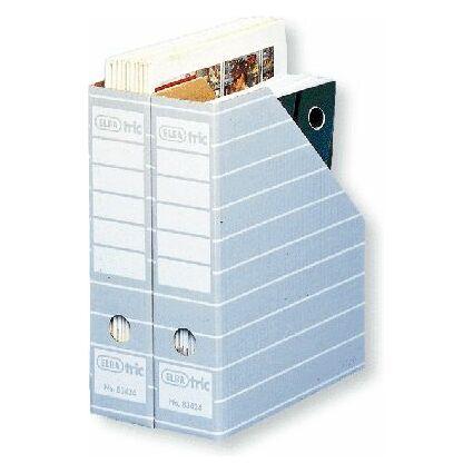 ELBA tric Archiv-Stehsammler, A4, mit Greifloch, grau/weiß