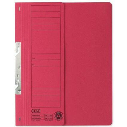 ELBA Einhakhefter aus Karton, rot, kaufmännische Heftung
