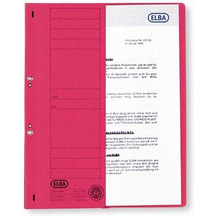 ELBA Ösenhefter aus Karton, rot, kaufmännische Heftung