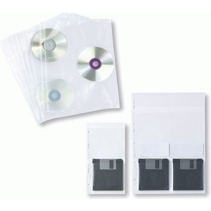 ELBA Prospekthülle für CD's/DVD's, DIN A4, PP, 0,07 mm