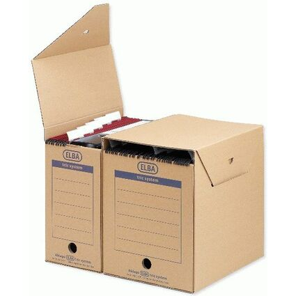 ELBA Hängemappen-Archiv tric System standard, naturbraun