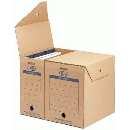ELBA Archiv-Schachtel maxi tric System, naturbraun