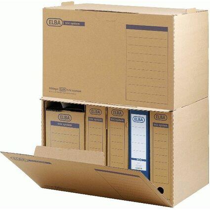 ELBA Archiv-Schachtel tric System, naturbraun, mit Greifloch