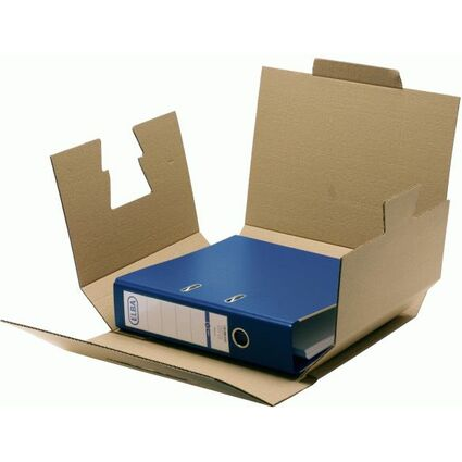 ELBA Ordner-Versandbox tric system, naturbraun, Wellpappe
