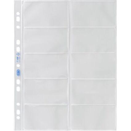 ELBA Visitenkarten-Prospekthülle, DIN A4, PP, 0,09 mm