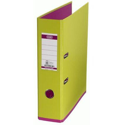 ELBA Ordner myColour, Rückenbreite: 80 mm, hellgrün/pink