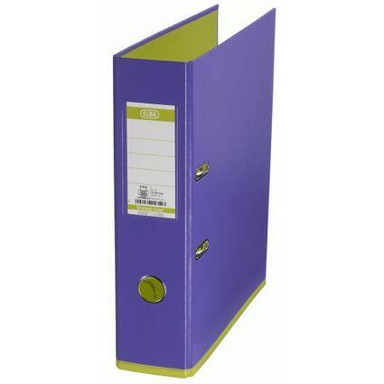 ELBA Ordner myColour, Rückenbreite: 80 mm, violett/hellgrün