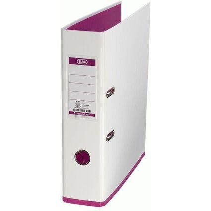 ELBA Ordner myColour, Rückenbreite: 80 mm, weiß/pink