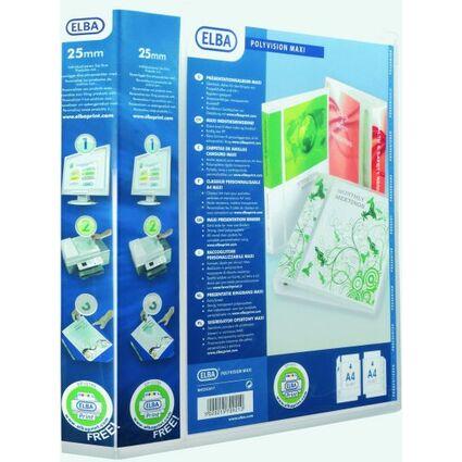 ELBA Präsentations-Ringbuch POLYVISION Maxi, DIN A4+, 40 mm