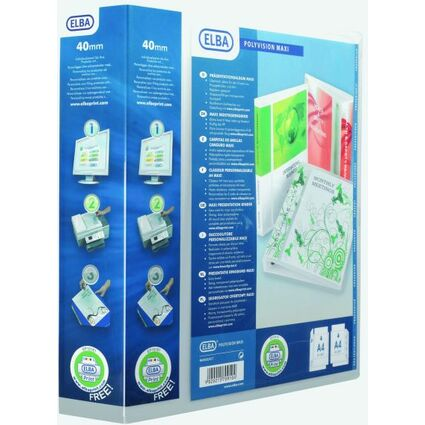 ELBA Präsentations-Ringbuch POLYVISION Maxi, DIN A4+, 60 mm