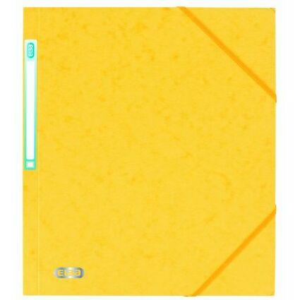 ELBA Eckspannermappe EUROFOLIO, DIN A4, 0,5 mm, gelb