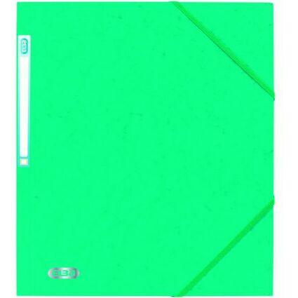 ELBA Eckspannermappe EUROFOLIO, DIN A4, 0,5 mm, grün