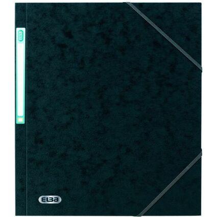 ELBA Eckspannermappe EUROFOLIO, DIN A4, 0,5 mm, schwarz