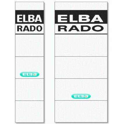 ELBA Ordnerrücken-Einsteckschild, extra kurz/breit, weiß