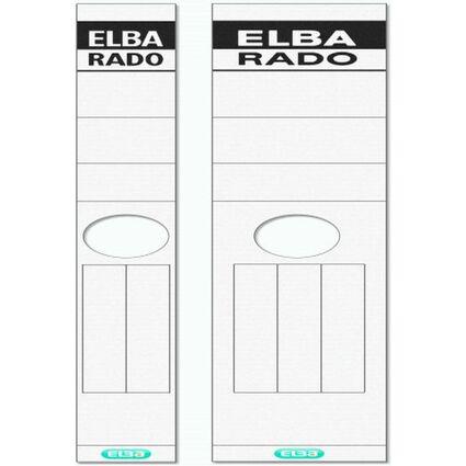 """ELBA Ordnerrücken-Etiketten """"ELBA RADO"""" - lang/breit, weiß"""