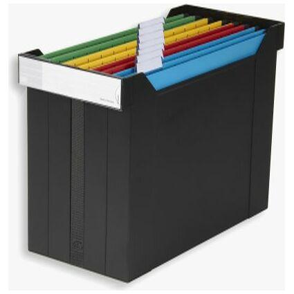 ELBA Hängeregistratur-Box go set, gefüllt, schwarz