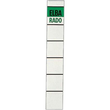 """ELBA Ordnerrücken-Etiketten """"ELBA RADO"""" - kurz/schmal, weiß"""