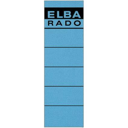 """ELBA Ordnerrücken-Etiketten """"ELBA RADO"""" - kurz/breit, blau"""
