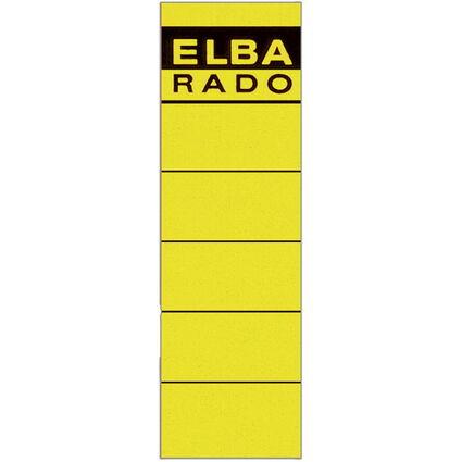 """ELBA Ordnerrücken-Etiketten """"ELBA RADO"""" - kurz/breit, gelb"""
