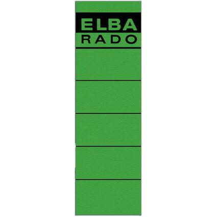 "ELBA Ordnerrücken-Etiketten ""ELBA RADO"" - kurz/breit, grün"
