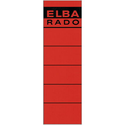 "ELBA Ordnerrücken-Etiketten ""ELBA RADO"" - kurz/breit, rot"
