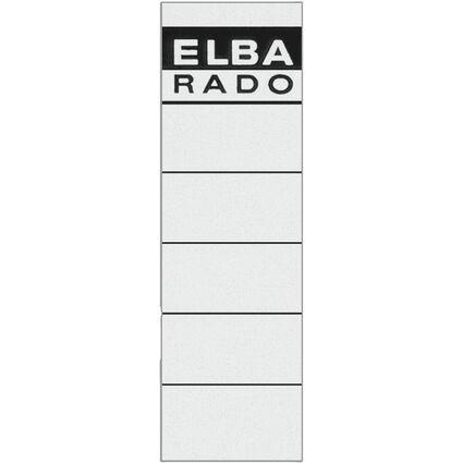 """ELBA Ordnerrücken-Etiketten """"ELBA RADO"""" - kurz/breit, weiß"""