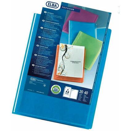 ELBA Präsentations-Sichtbuch POLYVISION, 20 Hüllen, blau