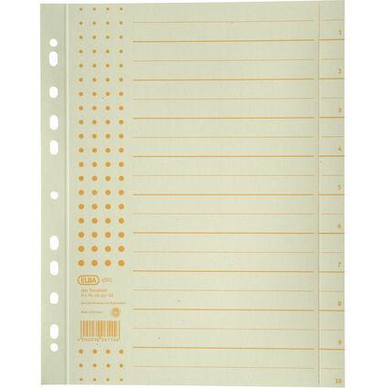 ELBA Trennblätter chic, DIN A4 Überbreite, Aufdruck: gelb