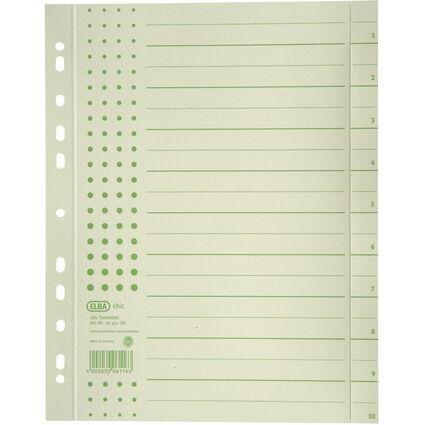ELBA Trennblätter chic, DIN A4 Überbreite, Aufdruck: grün