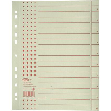 ELBA Trennblätter chic, DIN A4 Überbreite, Aufdruck: rot