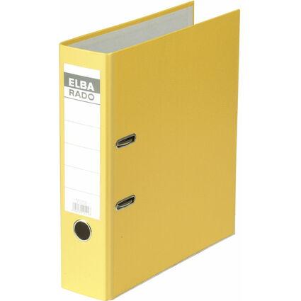 ELBA Ordner rado brillant, Rückenbreite: 80 mm, gelb