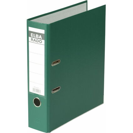ELBA Ordner rado brillant, Rückenbreite: 80 mm, grün