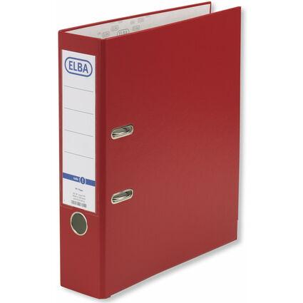 ELBA Ordner smart PP/Papier, Rückenbreite: 80 mm, rot