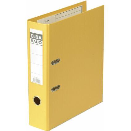 ELBA Ordner rado plast, Rückenbreite: 80 mm, gelb