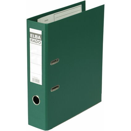 ELBA Ordner rado plast, Rückenbreite: 80 mm, grün