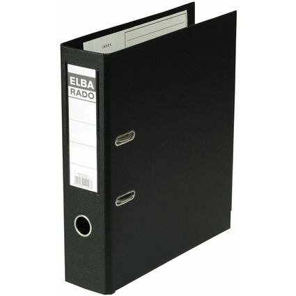 ELBA Ordner rado plast, Rückenbreite: 80 mm, schwarz