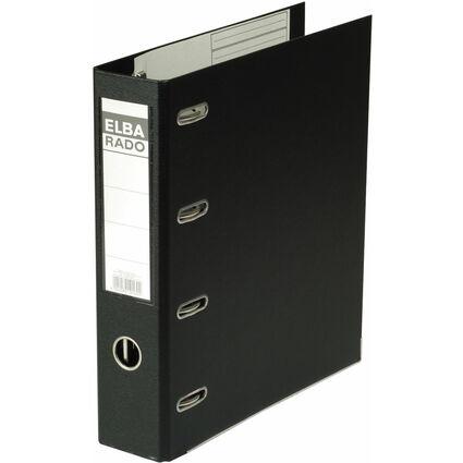 ELBA Doppelordner rado plast, Rückenbreite: 75 mm, schwarz
