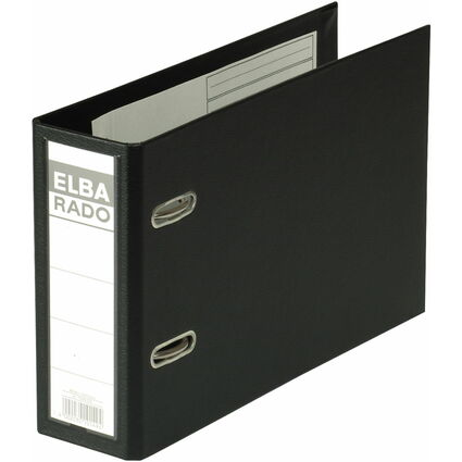 ELBA Ordner rado plast - DIN A5 quer, Rückenbr.: 75 mm, sw