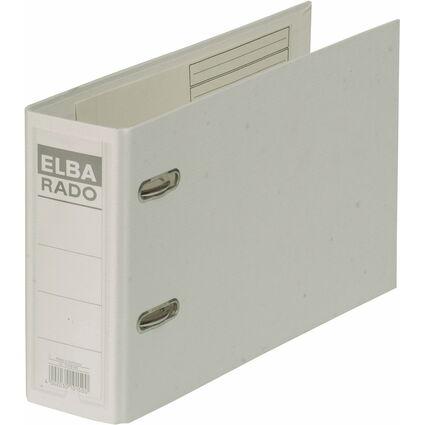 ELBA Ordner rado plast - DIN A5 quer, Rückenbr.: 75 mm, weiß