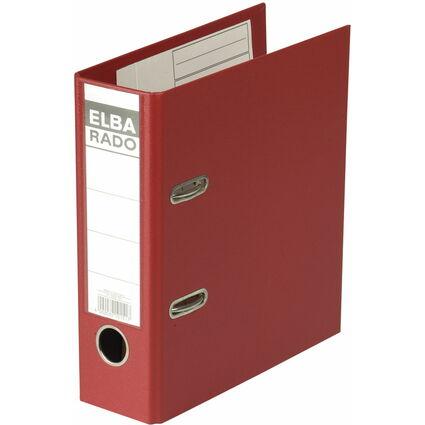 ELBA Ordner rado plast - DIN A5 hoch, Rückenbr.: 75 mm, rot