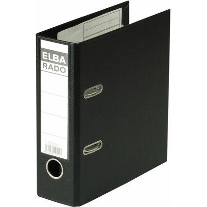 ELBA Ordner rado plast - DIN A5 hoch, Rückenbr.: 75 mm, sw