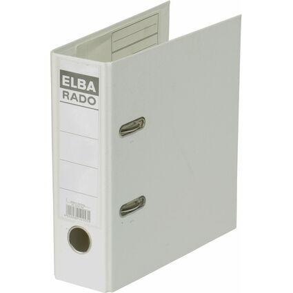 ELBA Ordner rado plast - DIN A5 hoch, Rückenbr.: 75 mm, weiß