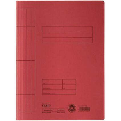 ELBA Schnellhefter DIN A4 aus Manilakarton (RC), rot