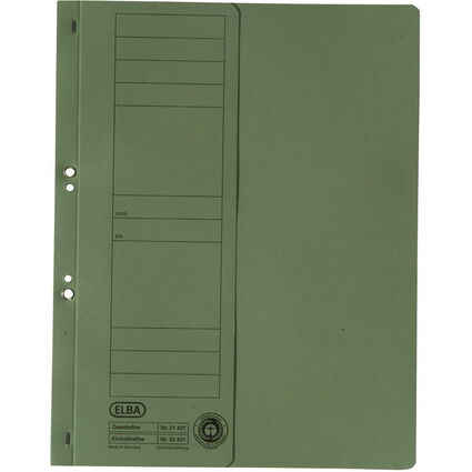 ELBA Ösenhefter aus Karton, grün, Amtsheftung