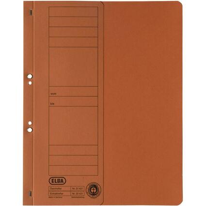 ELBA Ösenhefter aus Karton, orange, Amtsheftung
