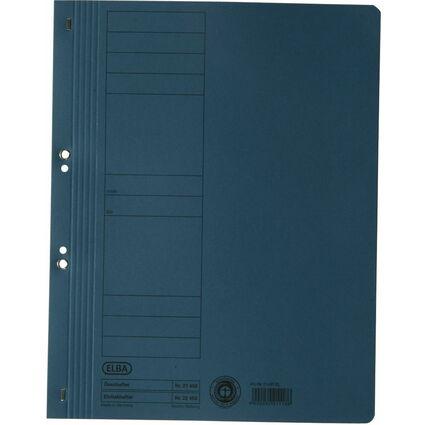 ELBA Ösenhefter aus Karton, blau, voller Vorderdeckel