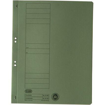 ELBA Ösenhefter aus Karton, grün, voller Vorderdeckel