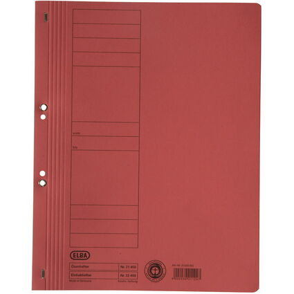 ELBA Ösenhefter aus Karton, rot, voller Vorderdeckel